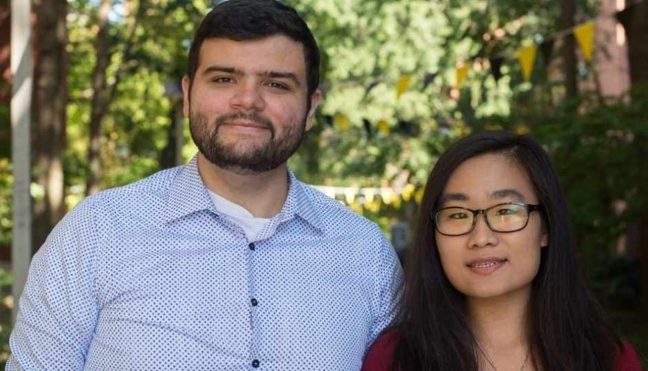 Hye Jin Park and Tarek Antar receive Undergraduate Research Awards for 2018-2019